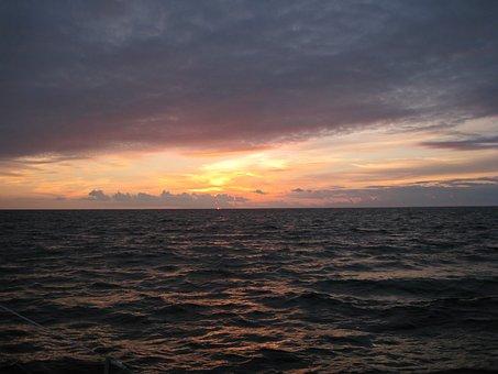 Sunset, Sea, Sun, Sky, Nature, Sunrise, Ocean, Water