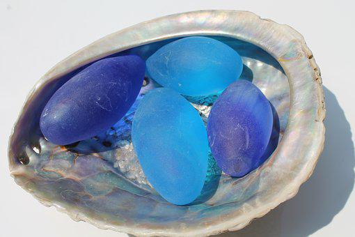 Craft, Mother Of Pearl, Blue, Color Therapy, Decorative
