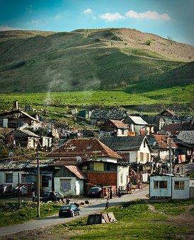 Slovakia, Building, Village, Outside, Gipsy, Spis