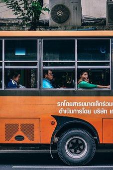 Asia, Bangkok, Thai, Thailand, Bright, Bus, Business