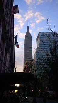 Empire State Building, Manhattan, Skyline, Urban