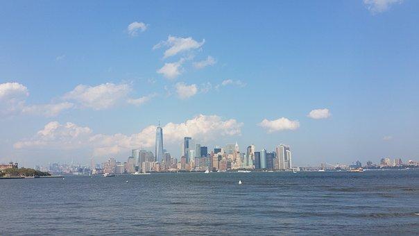 New York, Usa, Manhattan, Liberty Island