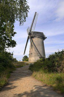 Windmill, Outdoors, Travel, Sky, Landscape, Path
