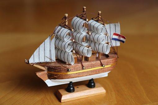 Sailing Vessel, Ship, Model, Boot, Wood, Seafaring