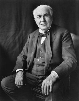 Thomas Alva Edison, Inventor, 1922, Portrait, Man