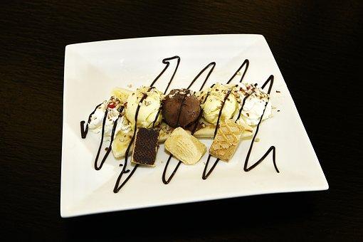 Banana Split, Ice Cream, Banana, Puddings, Chocolate