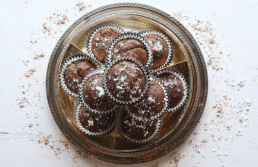 Cupcakes, Chocolate, Dark, Dessert, Food, Sweet, Cake