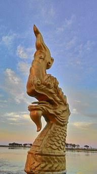 Dragon Statue, Serpent, Economic Collapse Of The Dragon