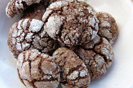 Cookie, Christmas, Chocolate, Icing Sugar, Even Baked