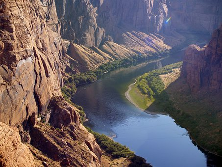 Colorado River, Glen Canyon, Page, Arizona, Usa, Water