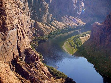 Colorado River, Glen Canyon, Page, Arizona, Usa, Water