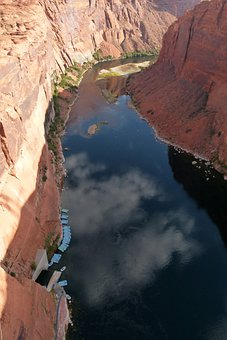 Colorado River, River, Water, Canyon, Glen Canyon, Page