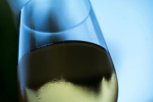 Wine, Glass, White Wine, Cool, Beaded, Beady