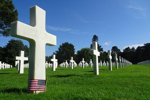 Cemetery, American, Normandy, American Cemetery, Cross
