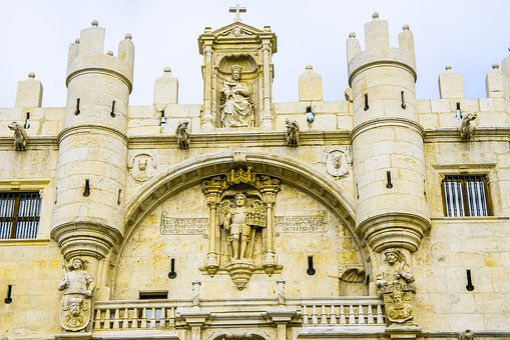 Burgos, Gate, Muslims, Spain, Architecture, Building