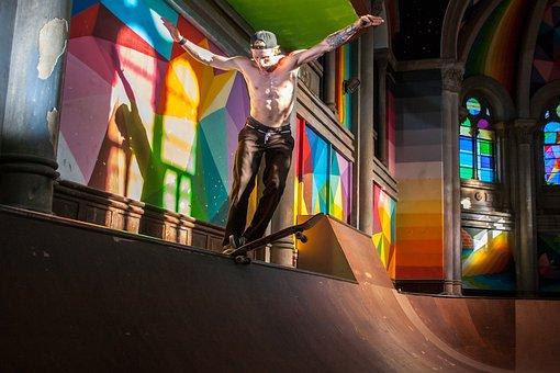Jesus, Skate, Skating, Recreational Sports, Drive
