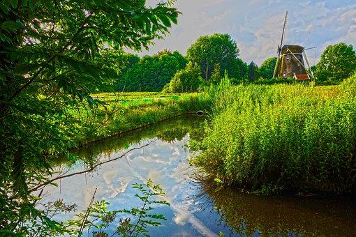 Mill, Dutch Mill, Riekermolen, Europe, European