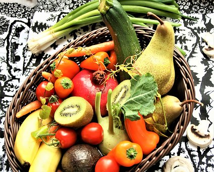 Vegetables, Colorful, Healthy, Fresh, Shopping Cart