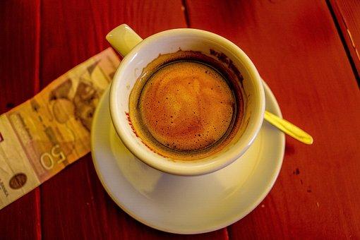 Coffee, Hot, Cup, Drink, Espresso, Cafe, Brown