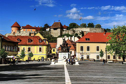 City, Mice, The City Of Eger, Nostalgia, Street, Houses