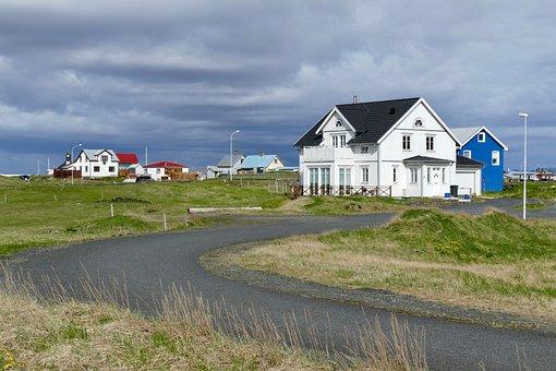 Dark Sky, Iceland, Icelandic Houses, Building