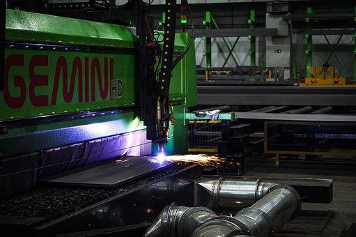 Industrial, Plasma, Industry, Factory, Steel, Metal