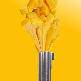 Mango, Juice, Explosion, Orange, Background, Wallpaper
