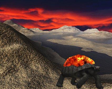 Alien, Turtle, Landscape, Science Fiction, Sci-fi
