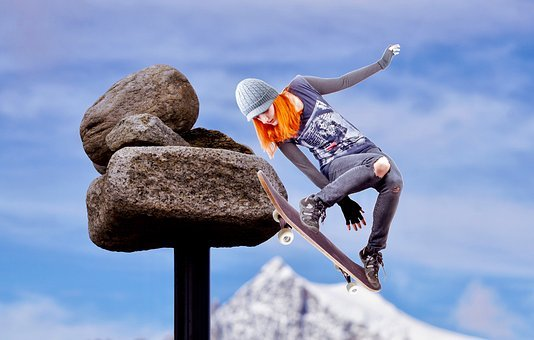 Skating, Jump, Human, Fun, Leisure, Sporty, Skater