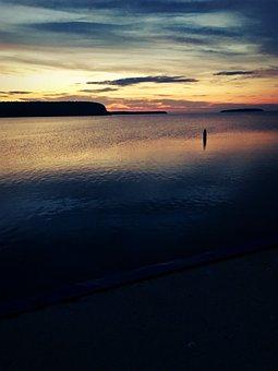 Lake, Sunset, Water, Sky, Nature, Landscape, Summer