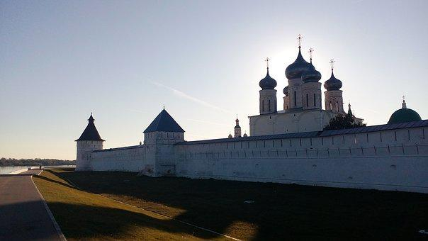 Temple, Sunset, Monastery, Orthodoxy