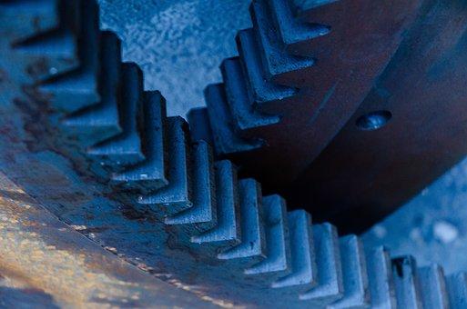 Gear, Industry, Teeth, Cogwheel, Factory, Metal