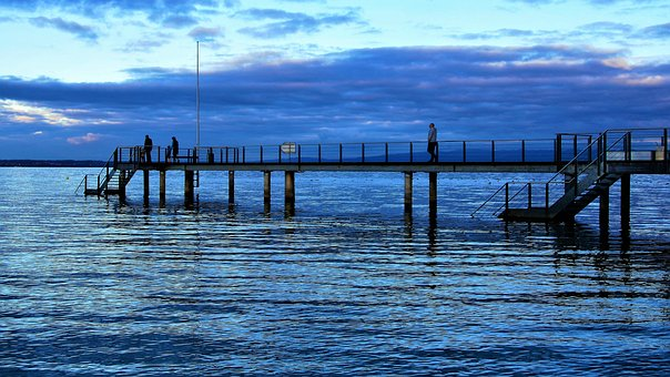 Lake, Bodensee, Beach, Water Surface, The Pier, Blue