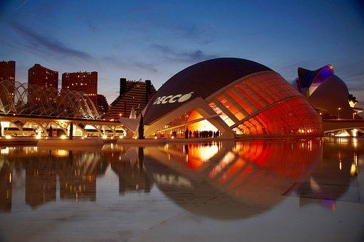 Valencia, Spain, Architecture, Sun, Travel, City Trip