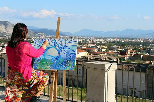 Painter, Artist, Artistic, Painting, Drawing, Woman