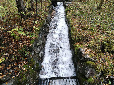 Autumn, Norway, Waterfall, The Nature Of The, Water