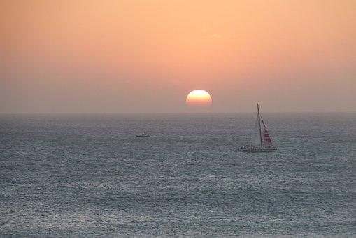 Mar, Ocean, Nature, Sunset, Beach, Landscape