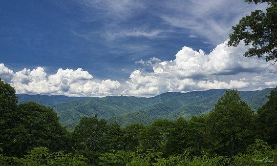 Mountain, Sky, North Carolina, Nature, Landscape, Blue