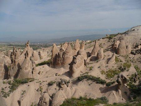 Turkey, Cappadocia, Landscape, Fairy Chimneys, Rocks