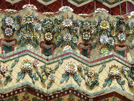 Thailand, Royal Palace, Frieze, Ceramic