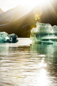 Icebergs, Norway, Scandinavia, Ice, Blue, Glacier