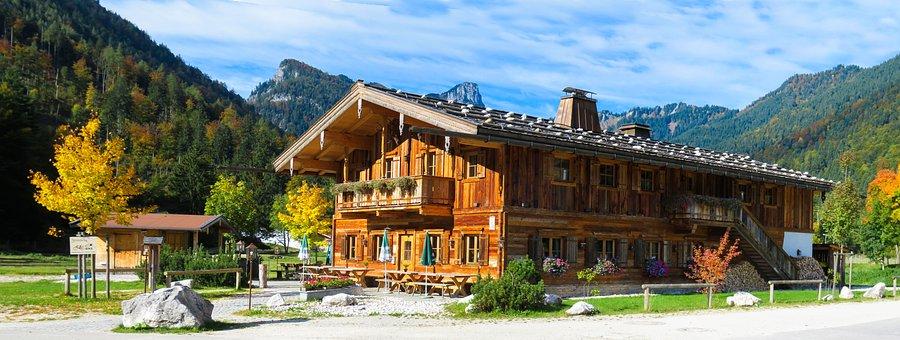 Nature, Landscape, Mountains, Architecture, Hut