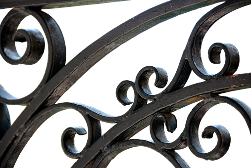 Metal Fence, Wrought Iron, Iron Gate, Metal, Ornament
