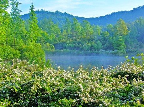 Lake, Mountains, North Carolina, Carolinas