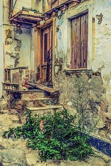 Old House, Damaged, Weathered, Abandoned, Decay, Grunge