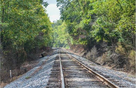 Railroad Tracks, Train Tracks, Transportation, Rural