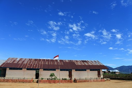 School, Education, Sky, Blue, Nature, Environment