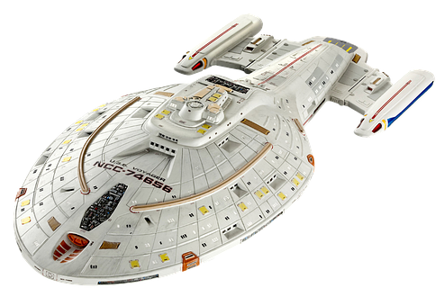 Spaceship, Star Trek, Model, Isolated, Science Fiction