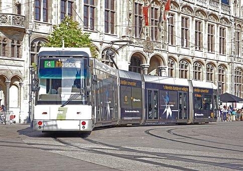 Road Train, Gent, Stadtmitte, Kornmarkt, Old Post
