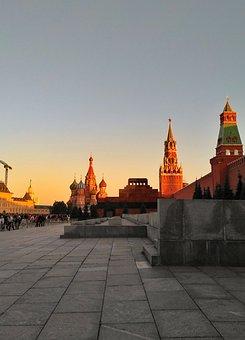 Moscow, Sunset, The Kremlin, Red Square, September